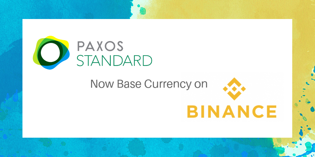 Binance Lists PAX as a Base Currency