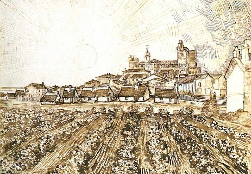 "Van Gogh's ""View of Saint-Maries with Church and Ramparts"""
