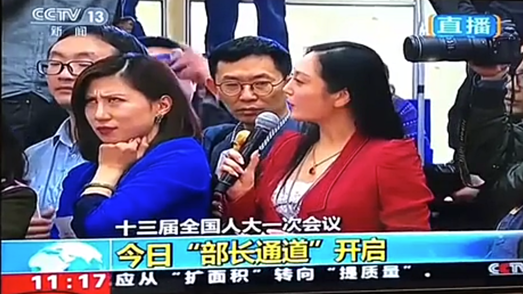 Reporter's epic eye-roll over softball question breaks China's internet