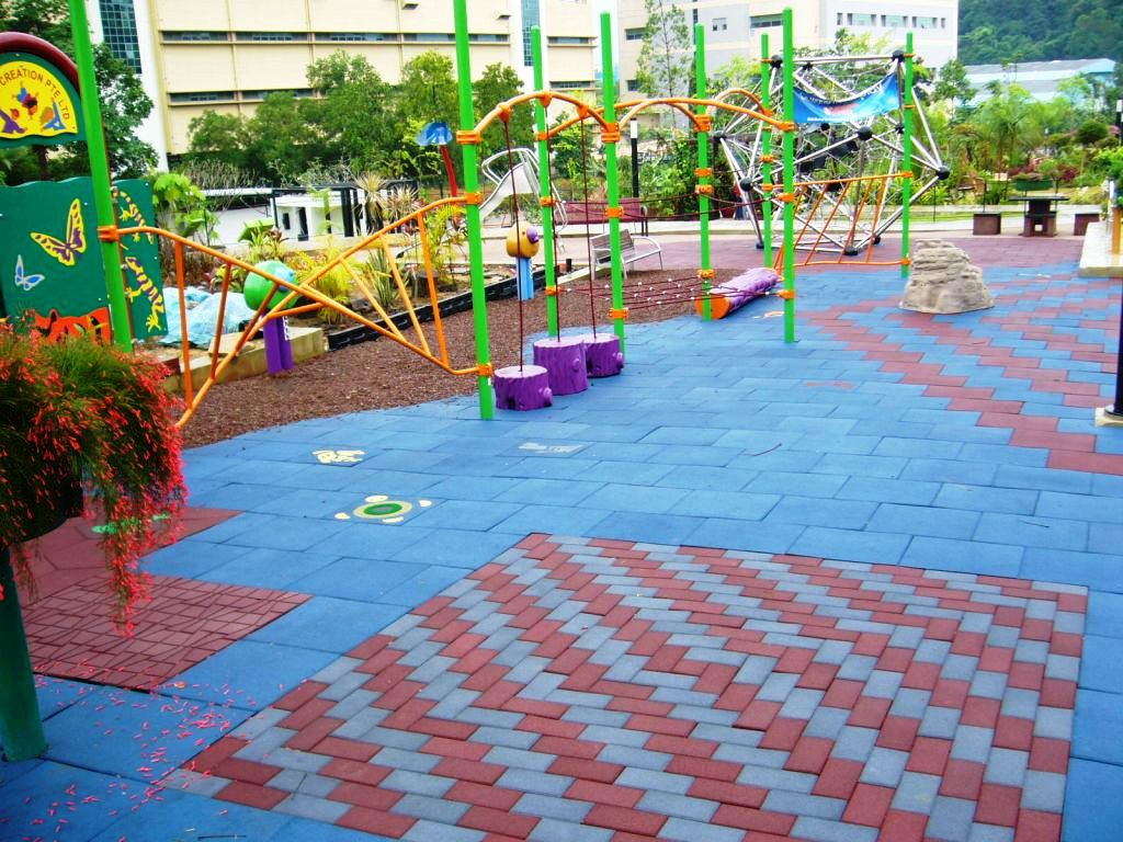 Recycled Rubber Flooring For Playground