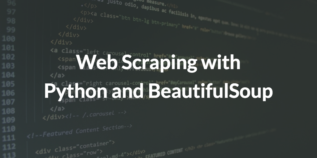 Web Scraping With BeautifulSoup And Python - Ramya Smruthi