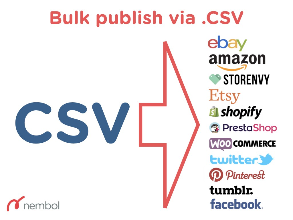 Use CSV to move your products from your system to eBay