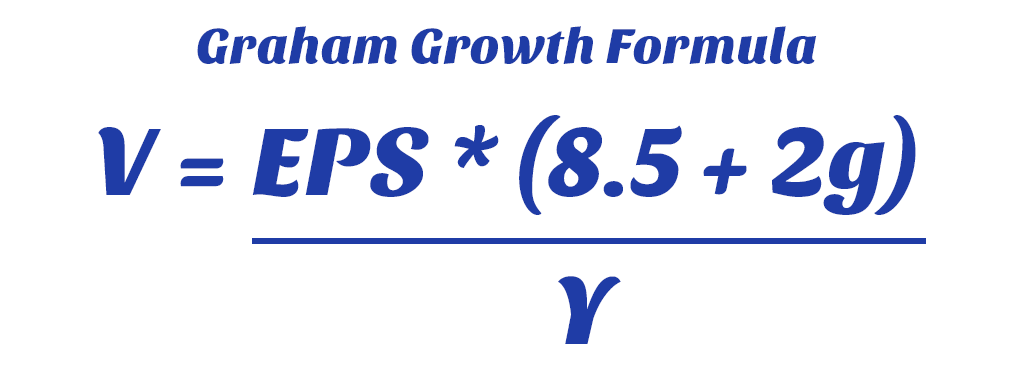 Image result for graham growth stock formula