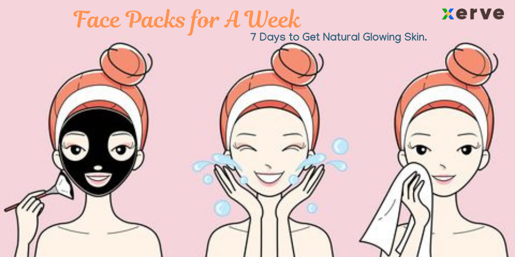 Face Packs For A Week 7 Days To Get Natural Glowing Skin By Rashmi Shetty Medium
