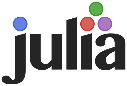 The logo for the Julia programming language.