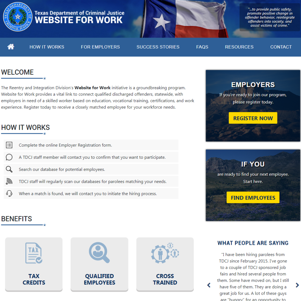 Case Study: Texas Department of Criminal Justice Website for