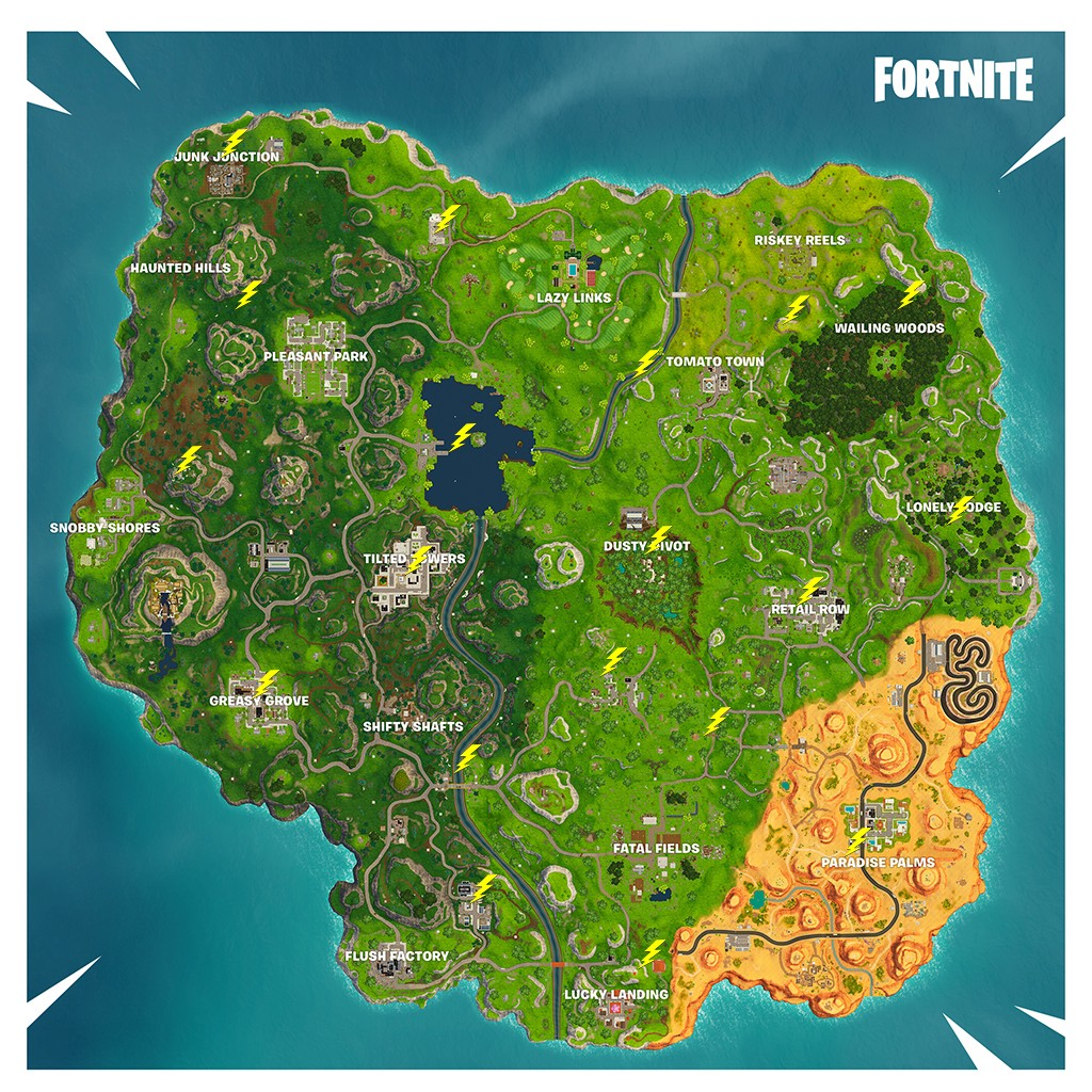 All Lightning Bolts Locations In Fortnite Battle Royale By Mmorpgs Fans Medium
