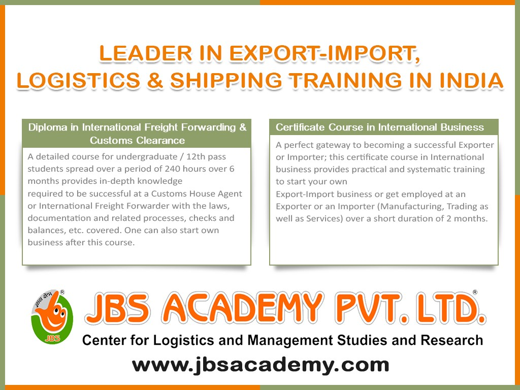 Certificate course in Customs Clearance & International