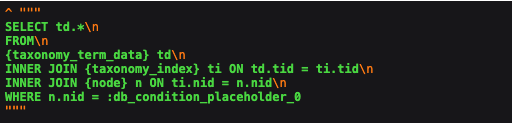 $query->__toString