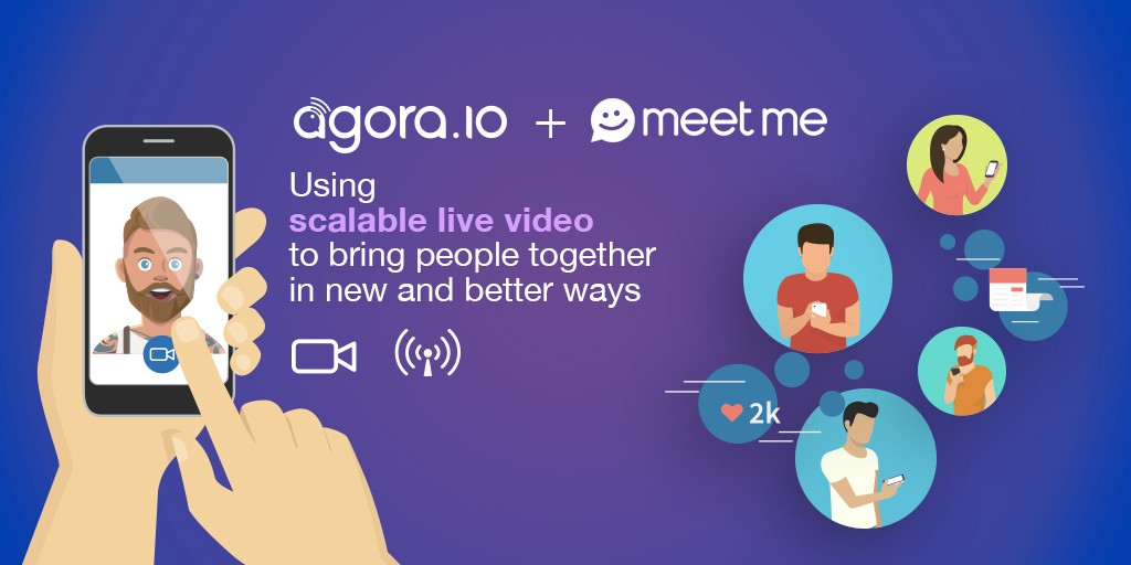 Agora provides MeetMe with scalable live video to drive