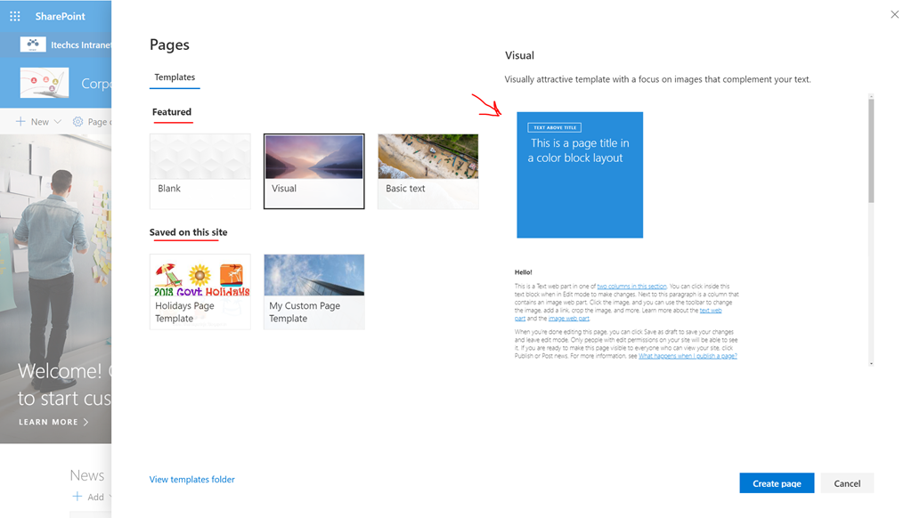 A First Look To The Modern Page Templates In Sharepoint Online
