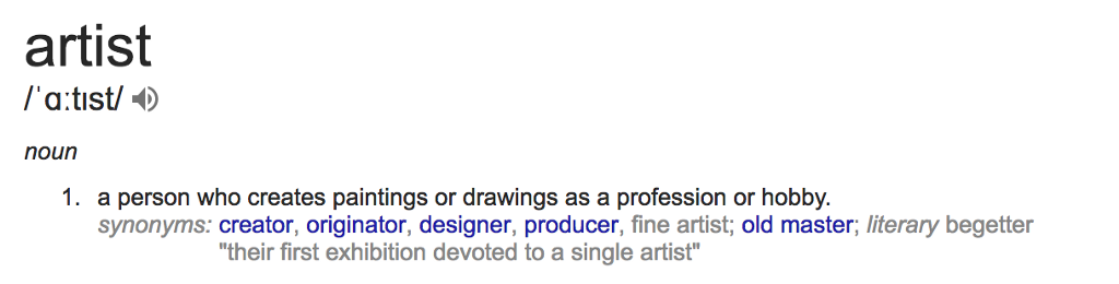 Observation to words – What's the different between visual artists