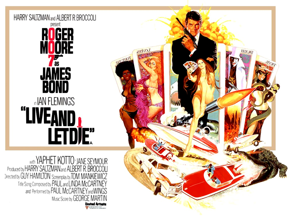 Jane Seymour Live And Let Die James Bond Poster