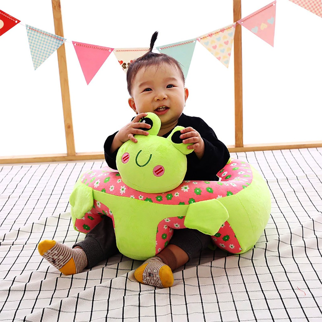 Infant Sitting Chair Safe Baby Sofa Chair Comfortable Baby Sit Up Chair Back Head Protect Seat Learn to Sit Chair for Toddlers 3-24 Month Baby Floor Plush Lounger,Piggy AIPINQI Baby Support Sofa