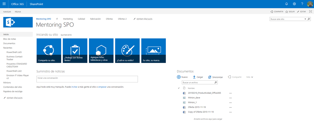 How to add a new Office 365 Group to an existing SPO Site