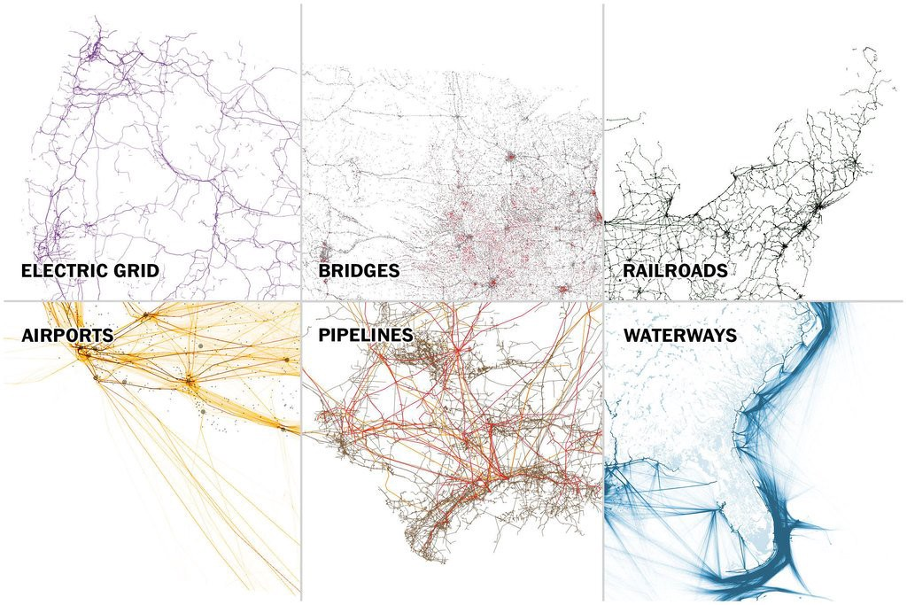 Seven maps that show the anatomy of America's vast