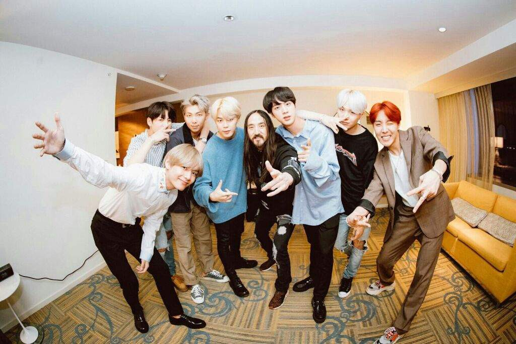Steve Aoki and BTS: Waste It On Me // Colorful Singing