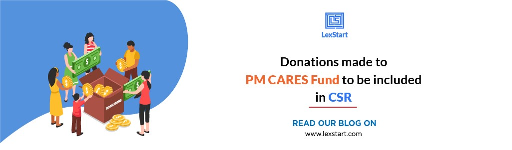 Donations Made To Pm Cares Fund To Be Included In Csr By Lexstart Medium