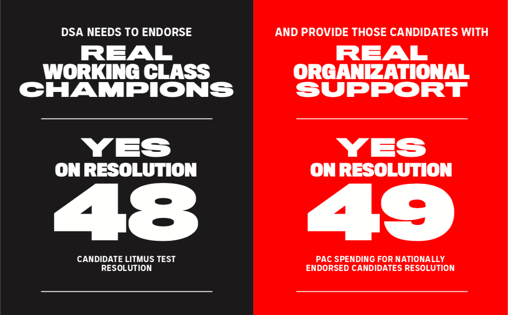 Revive the DSA PAC, Make National Endorsements Meaningful