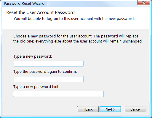windows password reset disk
