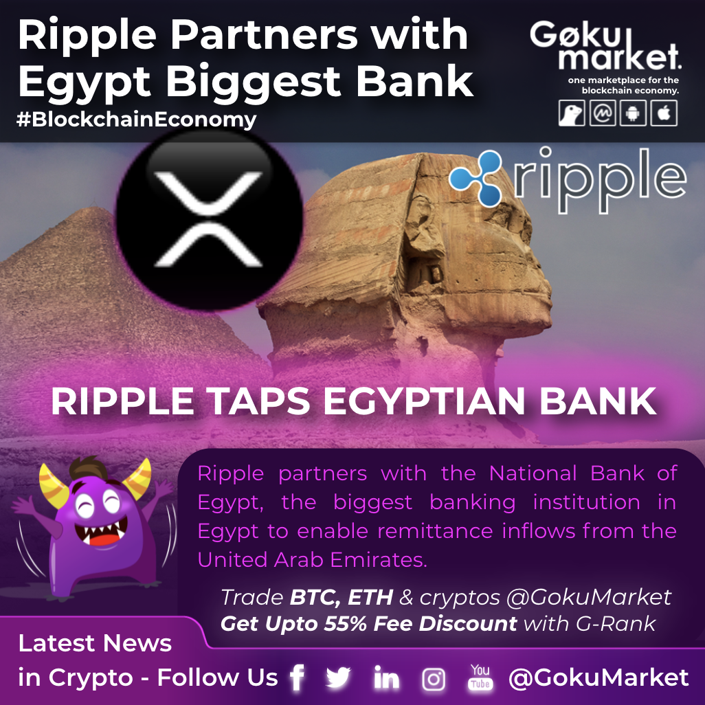 Ripple Partners With Egypt  Biggest Bank
