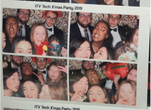 ITV graduates at the technology Christmas party