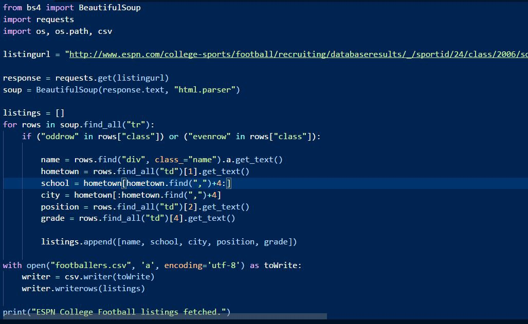 Scrap a web page in 20 lines of code with Python and