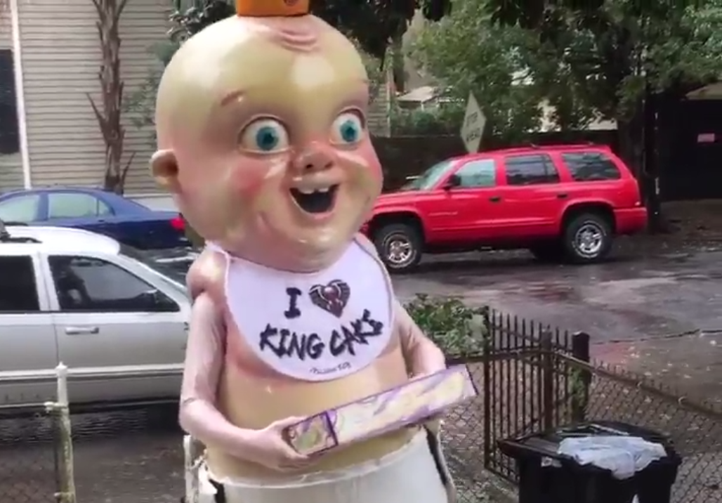 The New Orleans Pelicans King Cake Baby Mascot Is The Worst