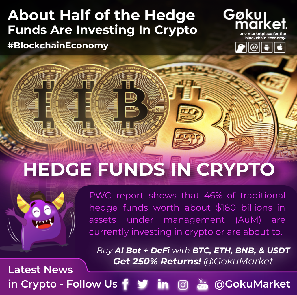 About Half of the HedgeFunds Are Investing In Crypto!