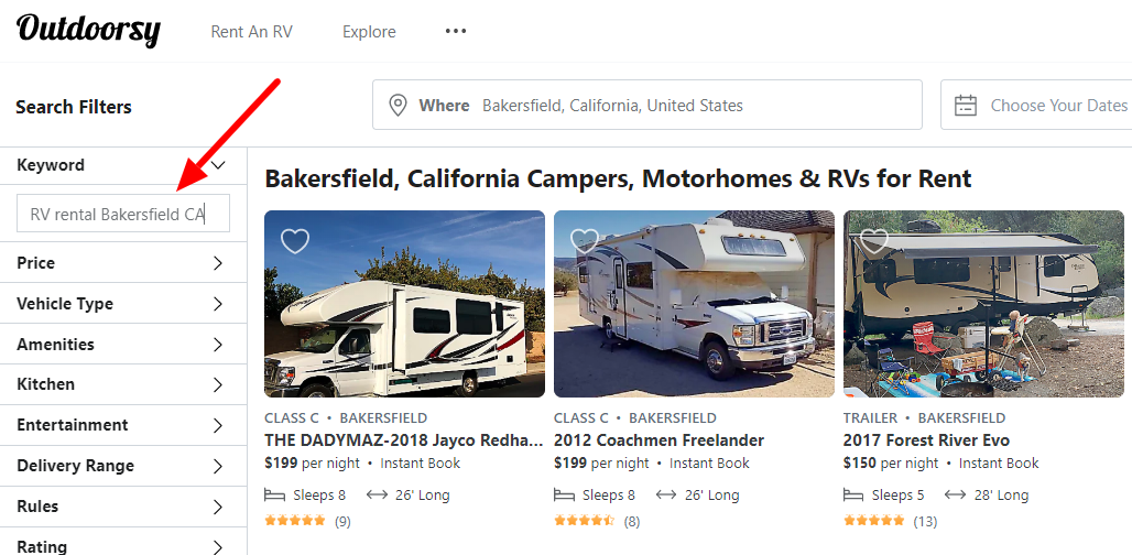 Rv Rental Bakersfield Ca Discount Included Limited Time By The Rv Guy Medium