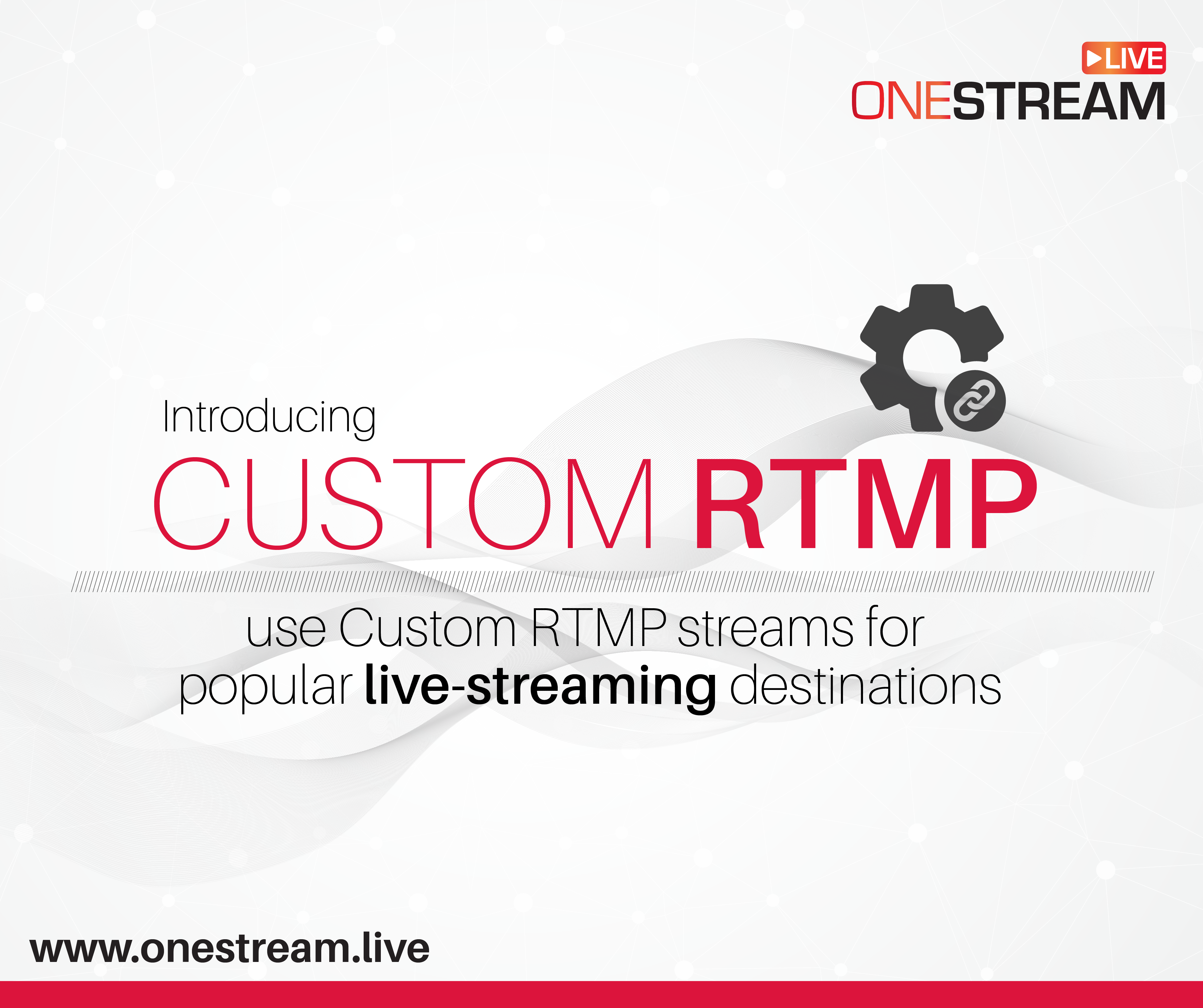 How to use Custom RTMP streams for popular live-streaming