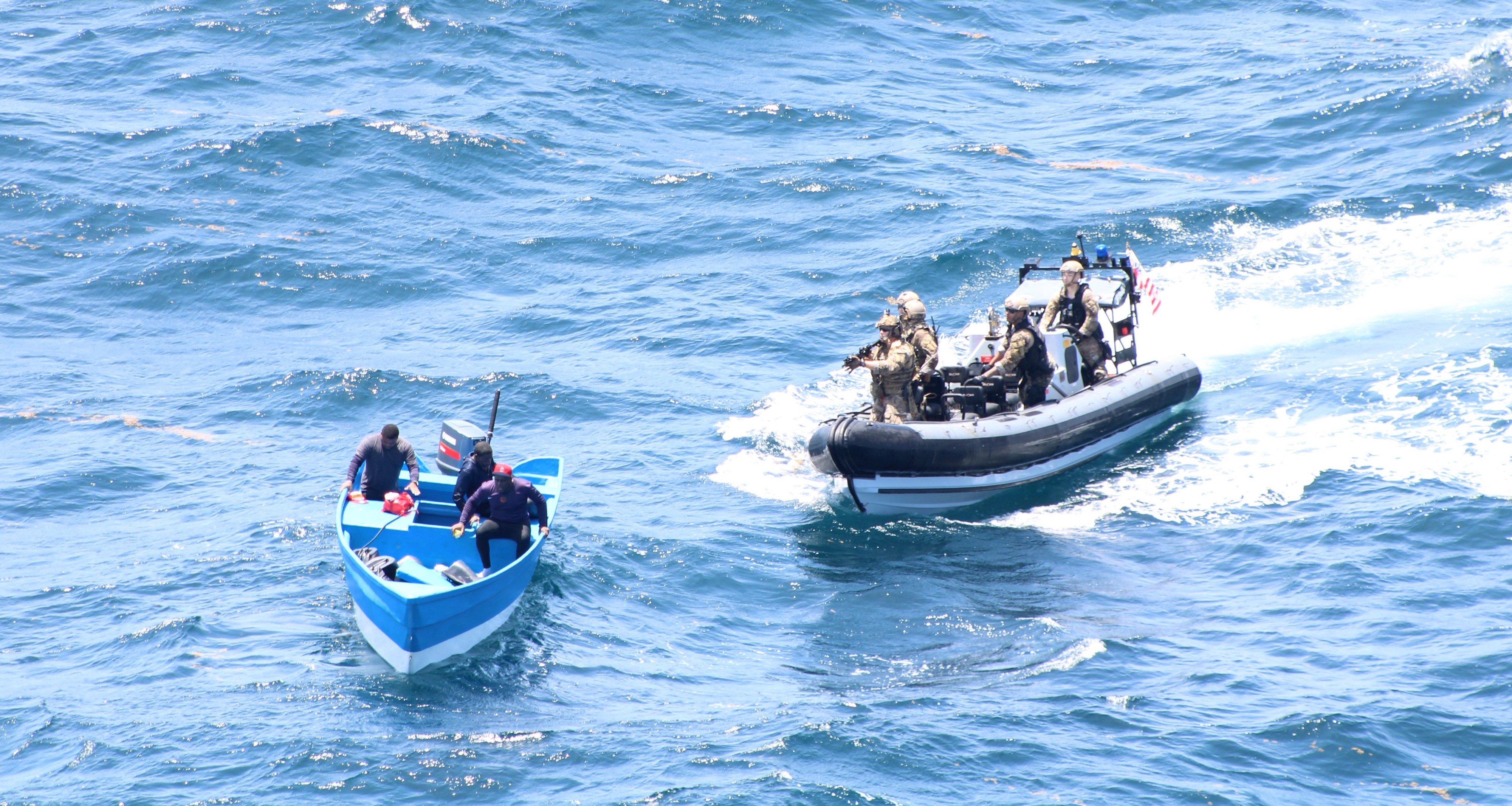 Seizing £17 million worth of cocaine in the Caribbean
