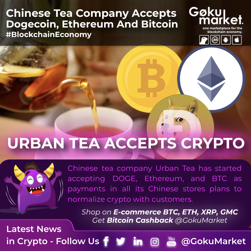 Chinese Tea Company Accepts Dogecoin, Ethereum, And #Bitcoin