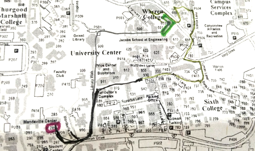 We decided to use 3 hats and the UCSD map for our dry run test. on map of ucr buildings, map of harvard university buildings, map of usc buildings, map of mit buildings, map of virginia tech buildings, map of purdue buildings, map of fsu buildings, map of ucsc buildings, map of notre dame buildings, map of mcgill buildings, map of princeton university buildings, map of university of rochester buildings, map of ucla buildings, map of unc buildings,