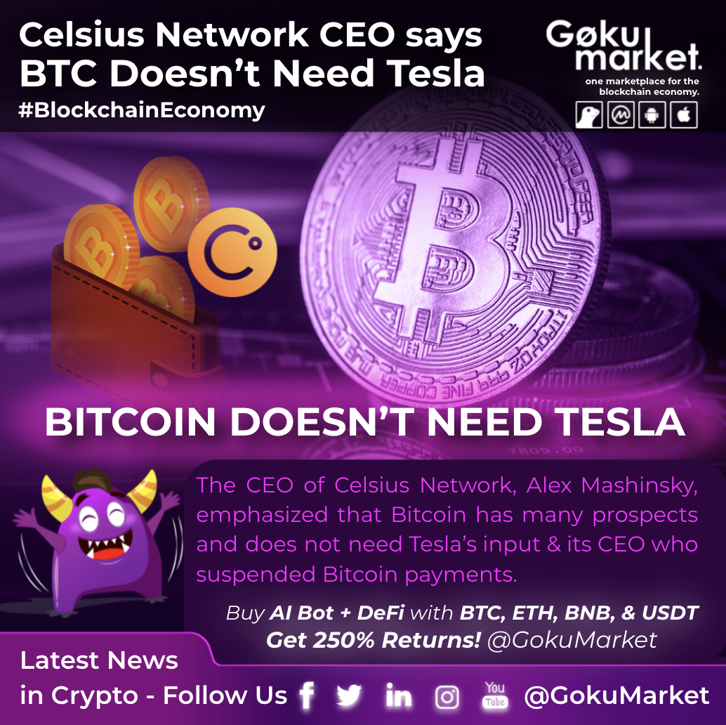 Celsius Network CEO Says BTC Doesn't Need Tesla