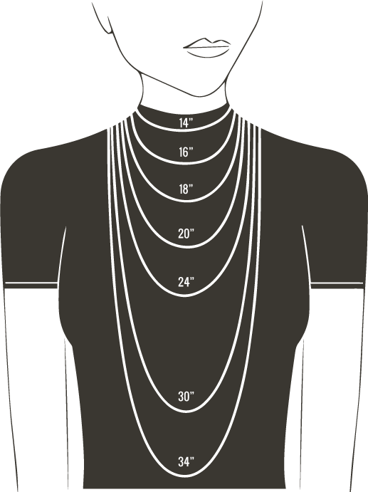7fc30aadc7f4d NECKLACE SIZE CHART FOR WOMEN - Gemn Jewelery - Medium