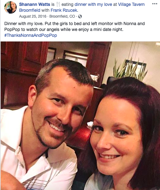 """CHAPTER 9: Shanann Watts to Chris Watts in August 2016, """"I"""