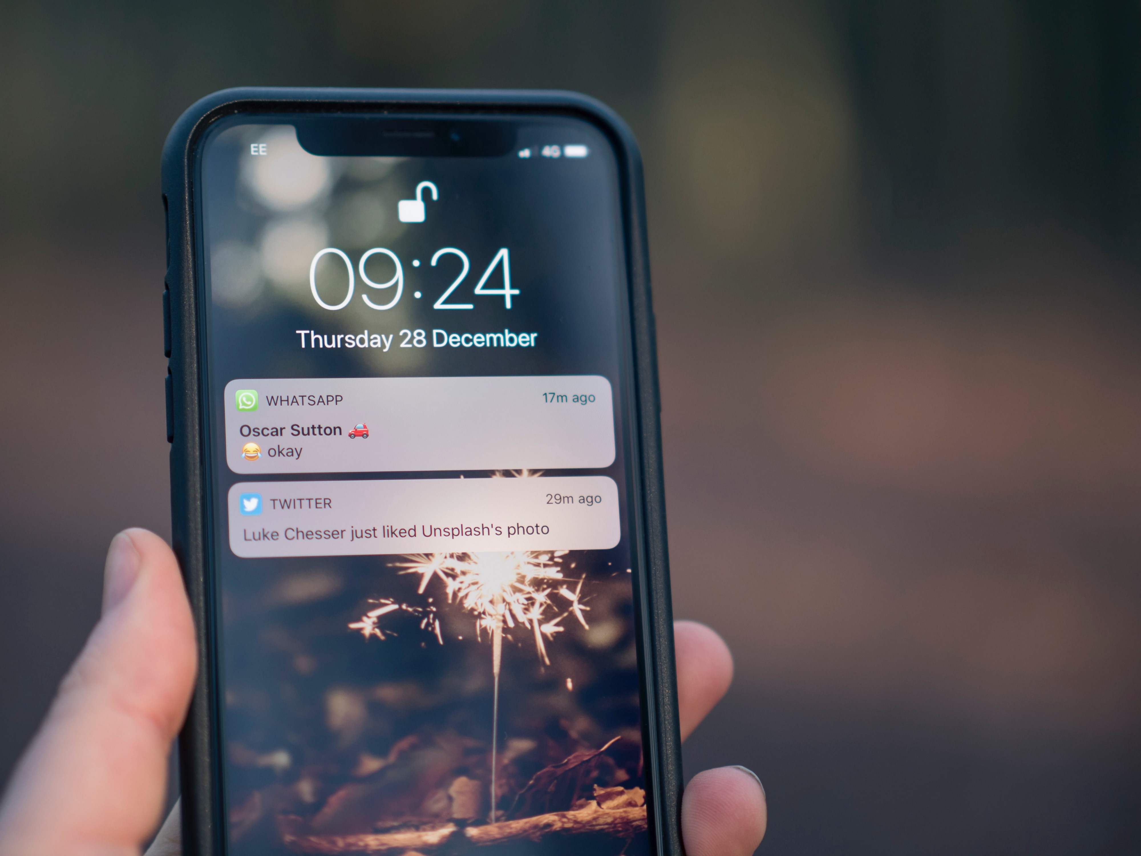Photo of smart phone with two notifications on the screen. Photo by Jamie Street on Unsplash