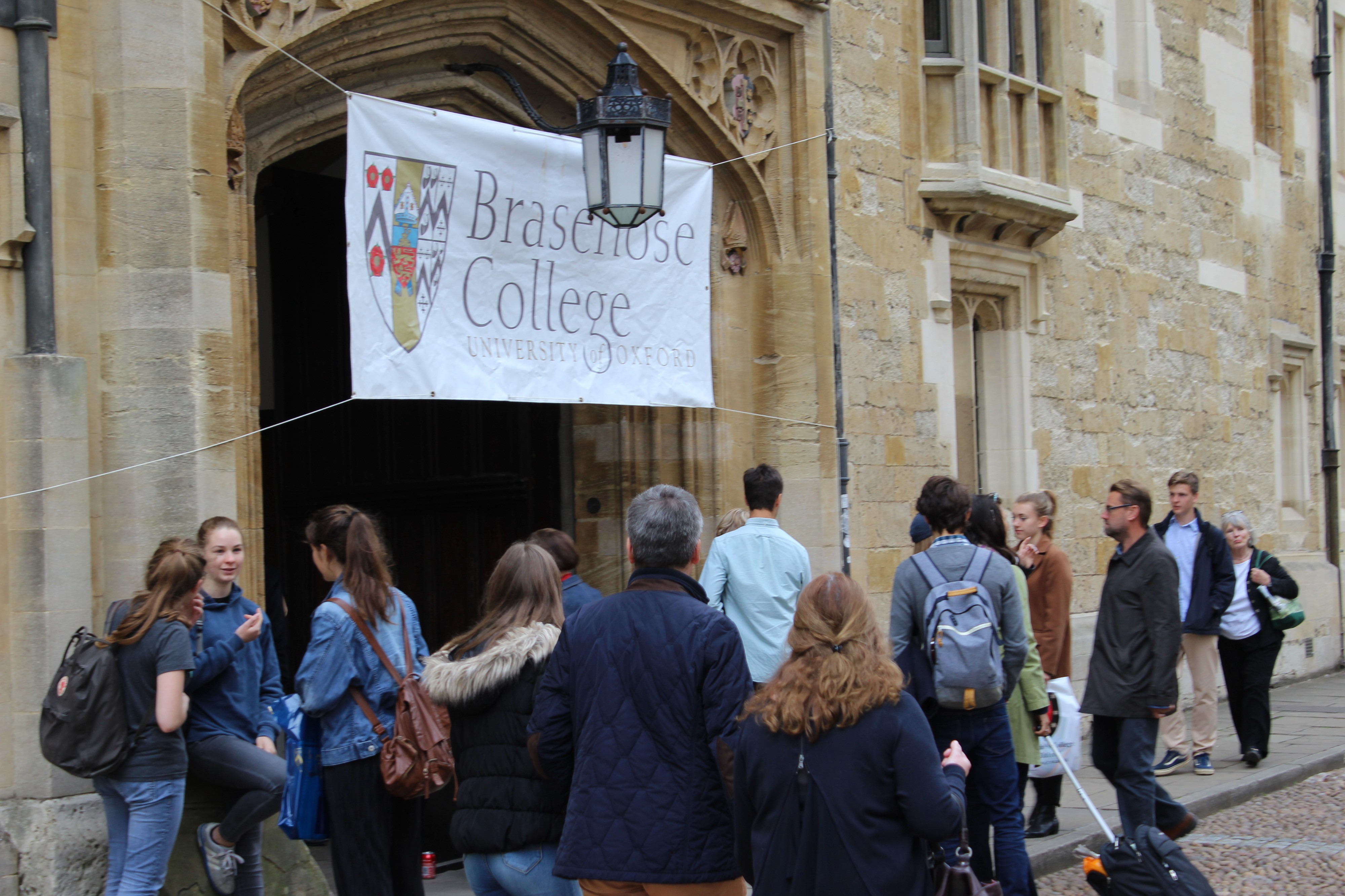 The outside of Brasenose College