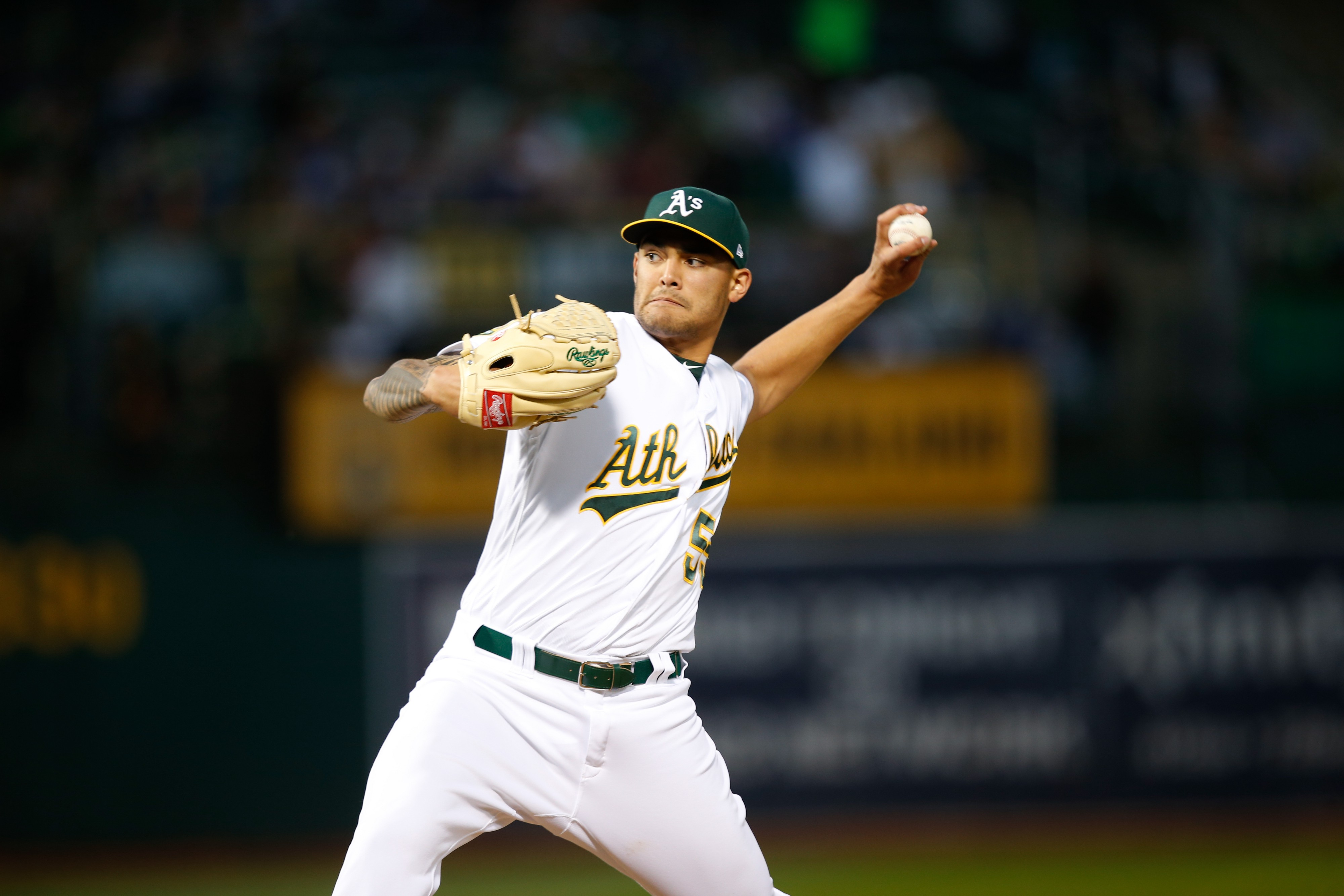 best website 5108b 10e23 Sean Manaea Named American League Pitcher of the Month for April