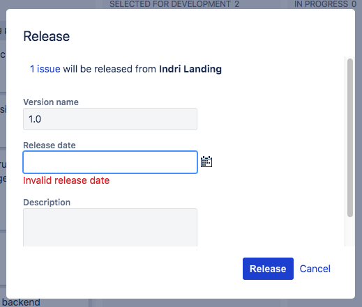 Did you know… release needs a date? What if we don't know when a release will be done? Don't ask me.