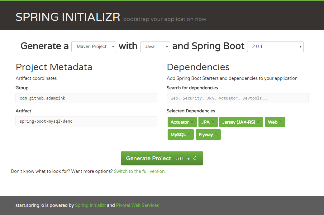 Getting Started with Spring Boot, Hibernate, Jersey, and