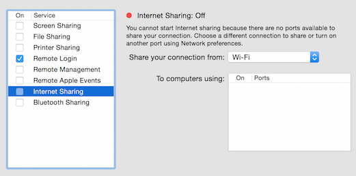 "Sharing a fake ""Internet"" Connection on OSX - CJ DiMaggio - Medium"