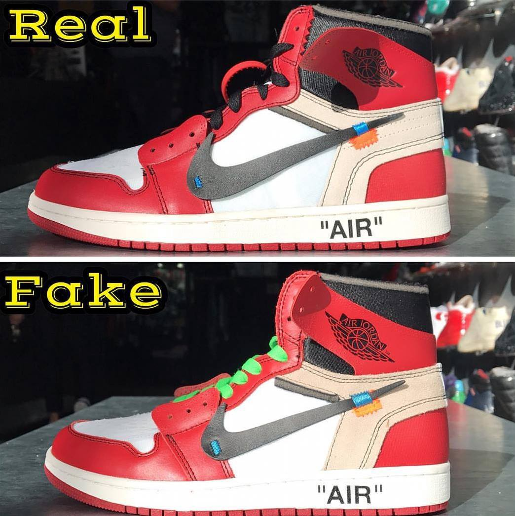 huge discount 9506c 81f5a OFF WHITE x JORDAN 1s. REAL VS FAKE - Limits App - Medium