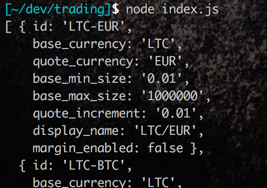 GDAX: Algorithmic trading with NodeJs - Engineer's Notes