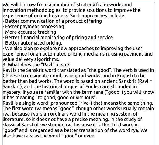 """AI-generated test about strategy, innovation, and the Sanskrit word """"ravl"""""""