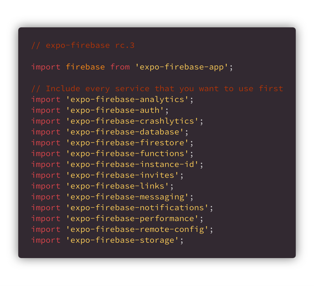 What's New in Expo-Firebase rc 5 - Exposition