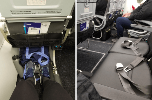 empty exit row on an airplane