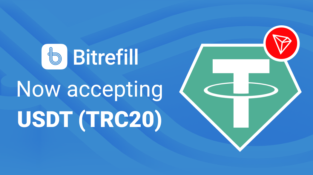 You can now use Tether over Tron on Bitrefill