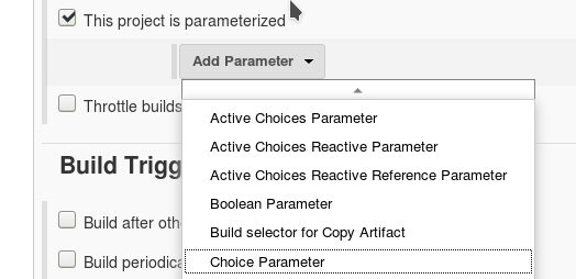 Dynamically list git branches in jenkins job parameter